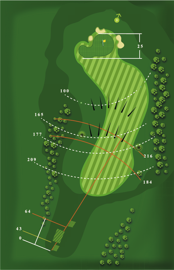 Yardage plan for Hole 2