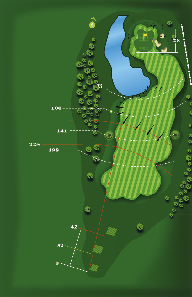 Yardage plan for Hole 4