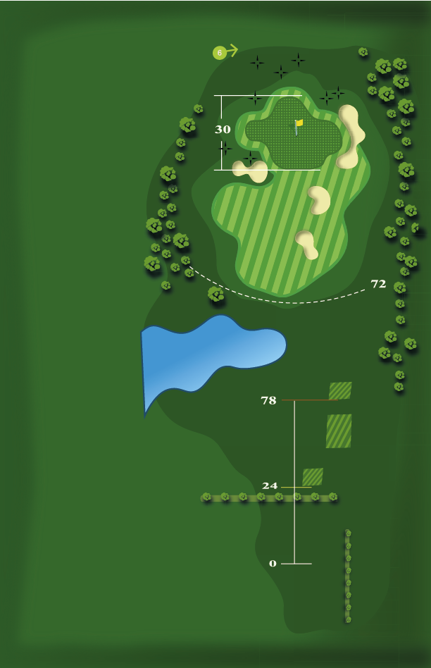 Yardage plan for Hole 5
