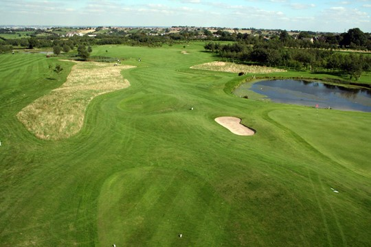 Tees from above on the 8th hole.