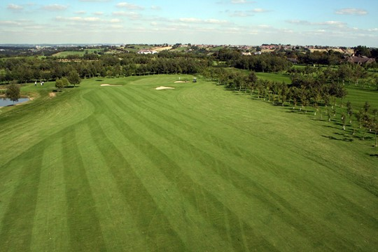 Looking down the 8th fairway towards the green