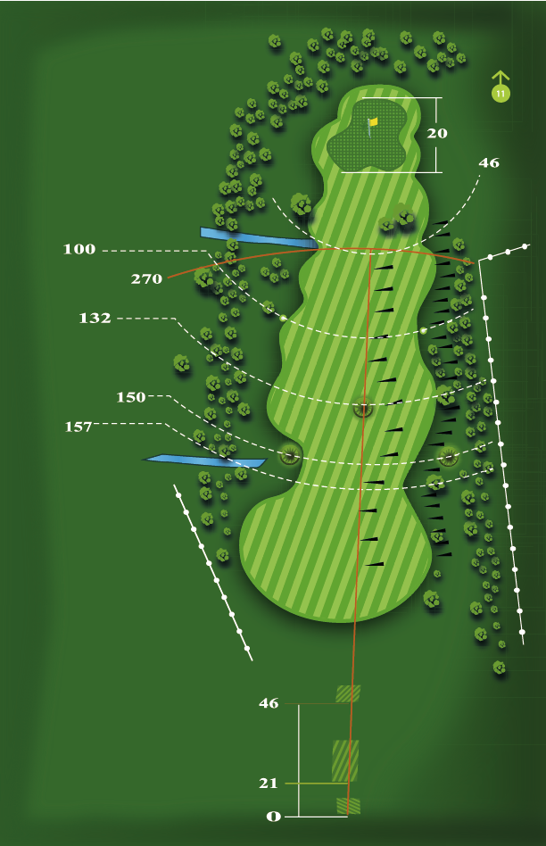Yardage plan for Hole 10