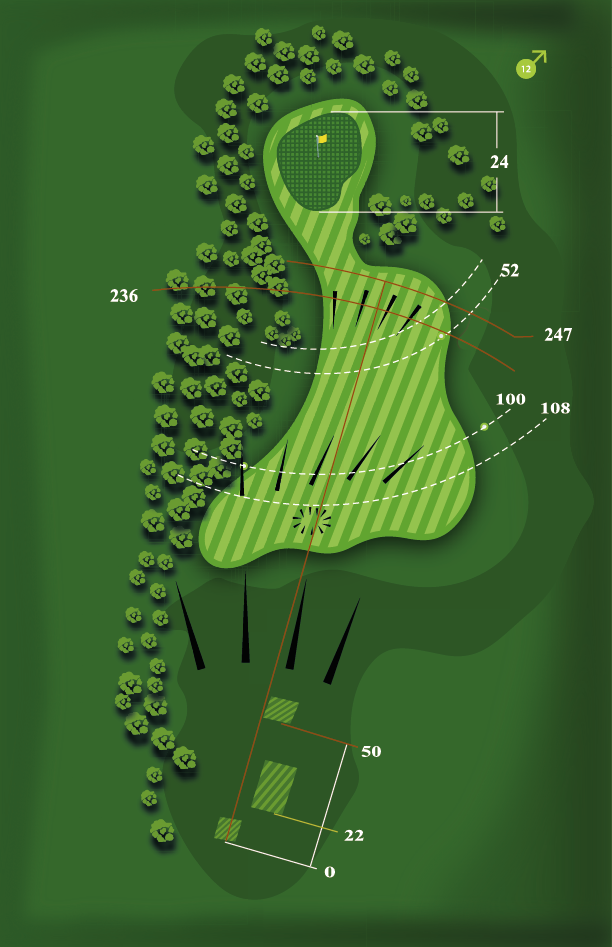 Yardage plan for Hole 11