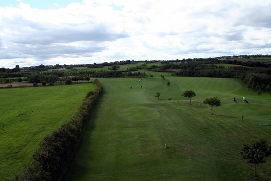 Tees on the 16th hole from above.