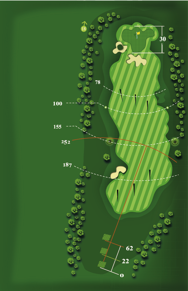 Yardage plan for Hole 17